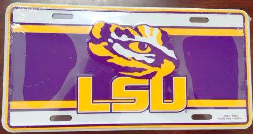 LSU TIGERS LICENSE PLATE LOUISIANA STATE UNIVERSITY