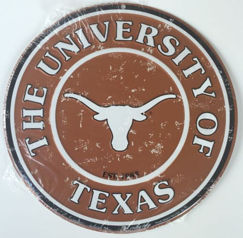 TEXAS LONGHORNS ROUND SIGN