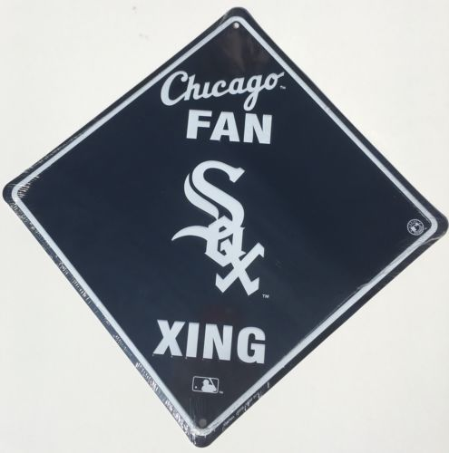 CHICAGO WHITE SOX EMBOSSED METAL SIGN CHICAGO FAN XING