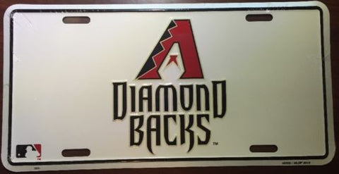 "ARIZONA DIAMONDBACKS 12"" ROUND METAL BASEBALL SIGN"