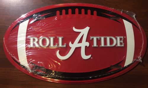 ALABAMA LICENSE PLATE OVAL ROLL TIDE