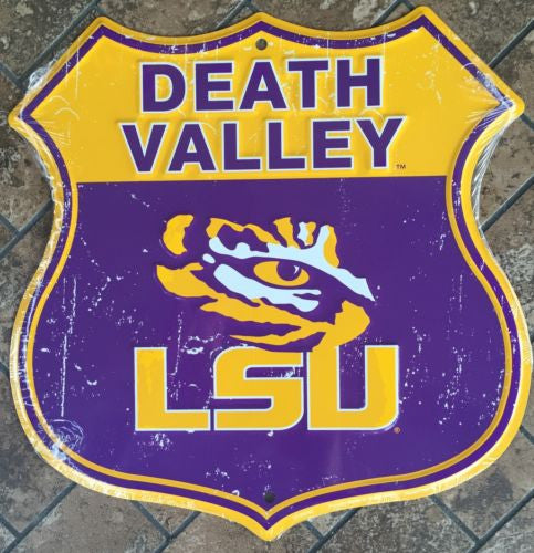 LSU TIGERS SHIELD DEATH VALLEY