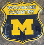 MICHIGAN WOLVERINES SHIELD WOLVERINE COUNTRY