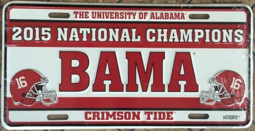 ALABAMA LICENSE PLATE 2015 NATIONAL CHAMPIONS