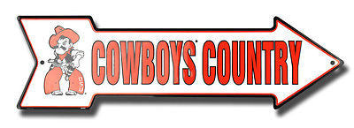 OKLAHOMA STATE COWBOYS COUNTRY ARROW SIGN