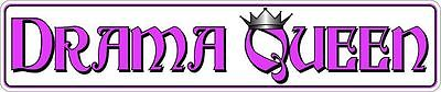 DRAMA QUEEN METAL STREET SIGN CROWN PINK GIRL