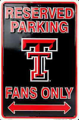 TEXAS TECH RESERVED PARKING SIGN MAN CAVE