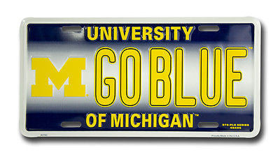 MICHIGAN WOLVERINES LICENSE PLATE GO BLUE