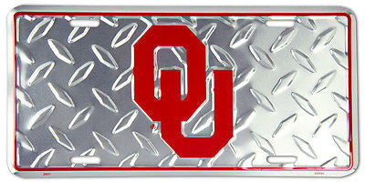 OKLAHOMA SOONERS DIAMOND LICENSE PLATE