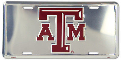 TEXAS A&M AGGIES CHROME LICENSE PLATE