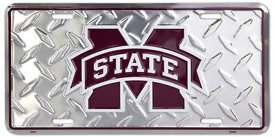 MISSISSIPPI STATE BULLDOGS DIAMOND LICENSE PLATE