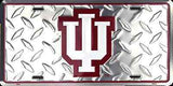 INDIANA UNIVERSITY HOOSIERS DIAMOND LICENSE PLATE