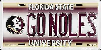 FLORIDA STATE SEMINOLES LICENSE PLATE GO NOLES