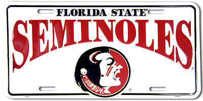 FLORIDA STATE SEMINOLES LICENSE PLATE