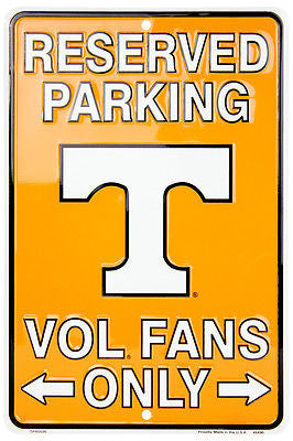 TENNESSEE VOLS RESERVED PARKING SIGN