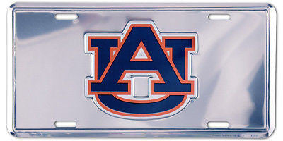 AUBURN TIGERS LICENSE PLATE CHROME