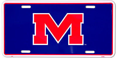 OLE MISS REBELS LICENSE PLATE M