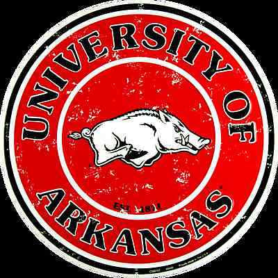 ARKANSAS RAZORBACKS ROUND SIGN