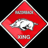 ARKANSAS RAZORBACK CROSSING SIGN 12