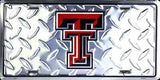 TEXAS TECH DIAMOND LICENSE PLATE