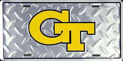 GEORGIA TECH DIAMOND LICENSE PLATE YELLOW JACKETS