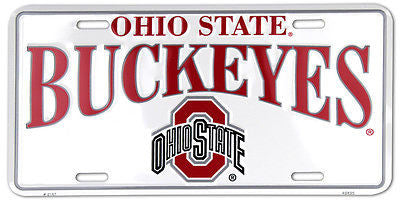 OHIO STATE BUCKEYES LICENSE PLATE