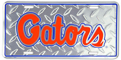 FLORIDA GATORS DIAMOND CUT LICENSE PLATE
