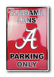 ALABAMA FANS PARKING ONLY METAL SIGN LARGE