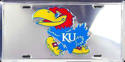 KANSAS UNIVERSITY CHROME LICENSE PLATE