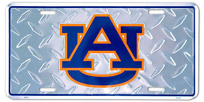 AUBURN TIGERS LICENSE PLATE DIAMOND