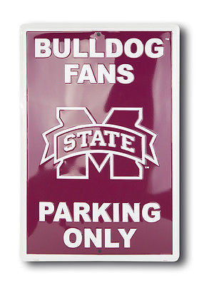 MISSISSIPPI STATE BULLDOGS PARKING SIGN LARGE