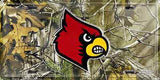 LOUISVILLE CARDINALS CAMO LICENSE PLATE