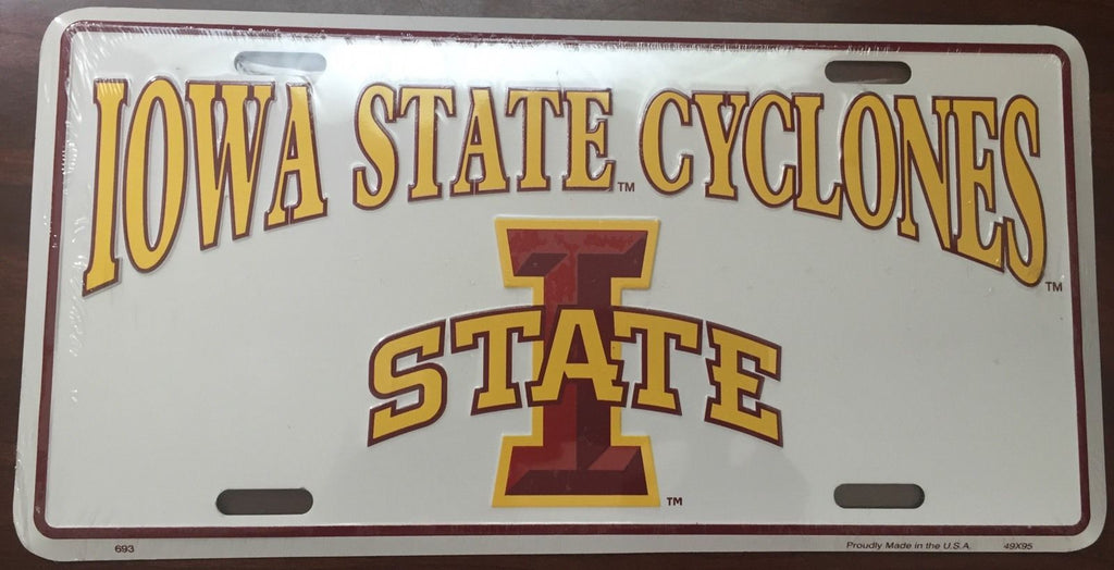 IOWA STATE CYCLONES LICENSE PLATE