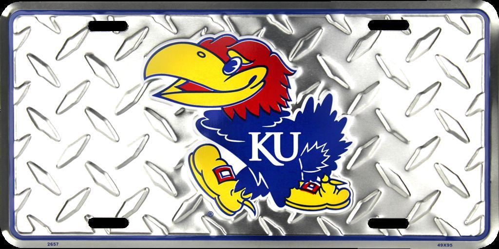KANSAS JAYHAWKS DIAMOND LICENSE PLATE