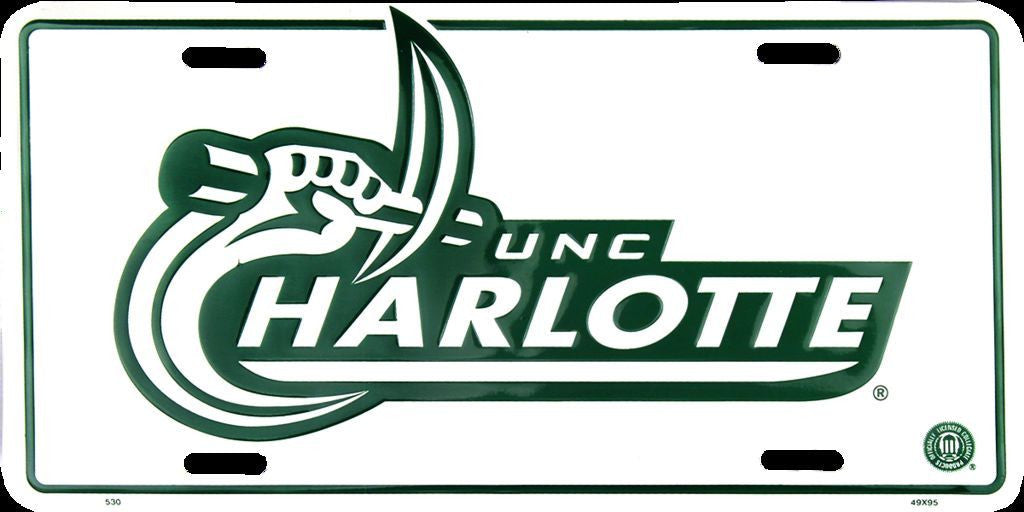 UNC CHARLOTTE 49ERS LICENSE PLATE