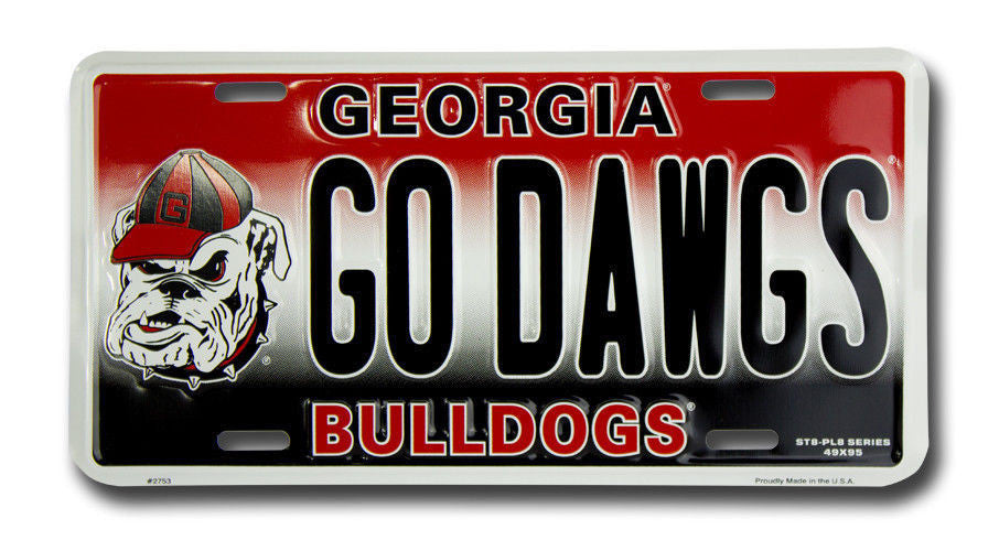 GEORGIA BULLDOGS PLATE GO DAWGS