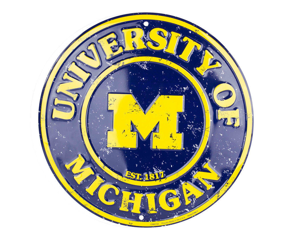 MICHIGAN WOLVERINES ROUND SIGN