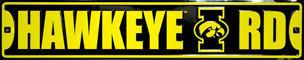 IOWA HAWKEYES STREET SIGN