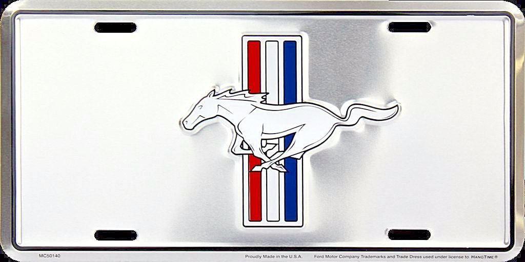 FORD MUSTANG PONY CHROME LICENSE PLATE
