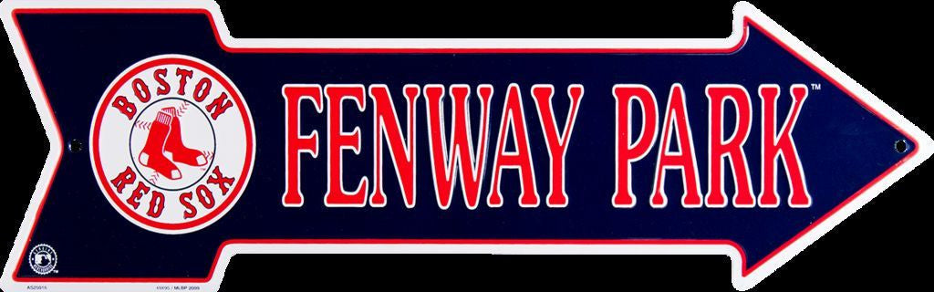 BOSTON RED SOX FENWAY PARK METAL ARROW SIGN