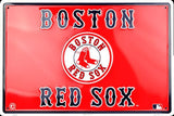 BOSTON RED SOX EMBOSSED METAL SIGN RED PAIR OF SOCKS LARGE