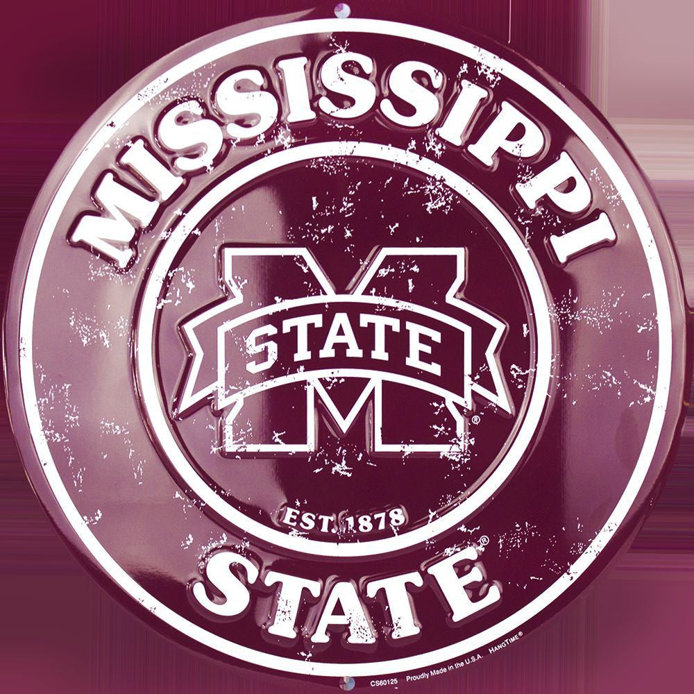 MISSISSIPPI STATE BULLDOGS ROUND SIGN