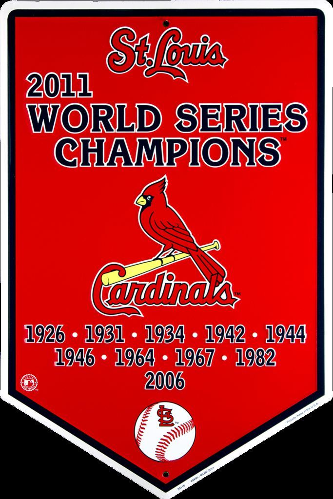 ST LOUIS CARDINALS SIGN METAL BANNER 2011 WORLD SERIES CHAMPIONS