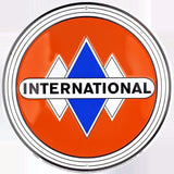 International Truck Round Metal Retro Sign