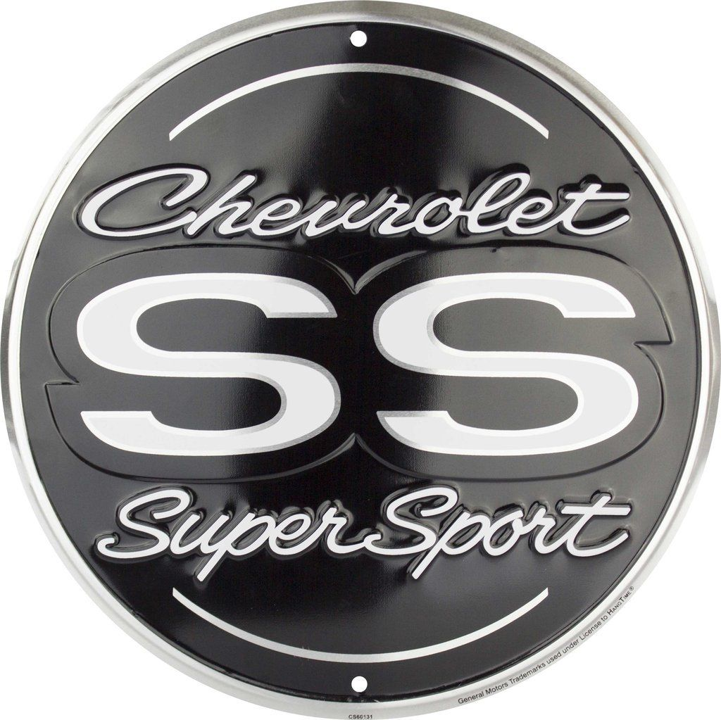 "Chevrolet Ss Super Sport 12"" Round Metal Embossed Sign"