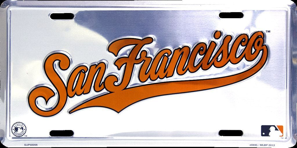 SAN FRANCISCO GIANTS CHROME LICENSE PLATE