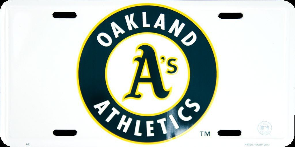 OAKLAND A'S ATHLETICS LICENSE PLATE