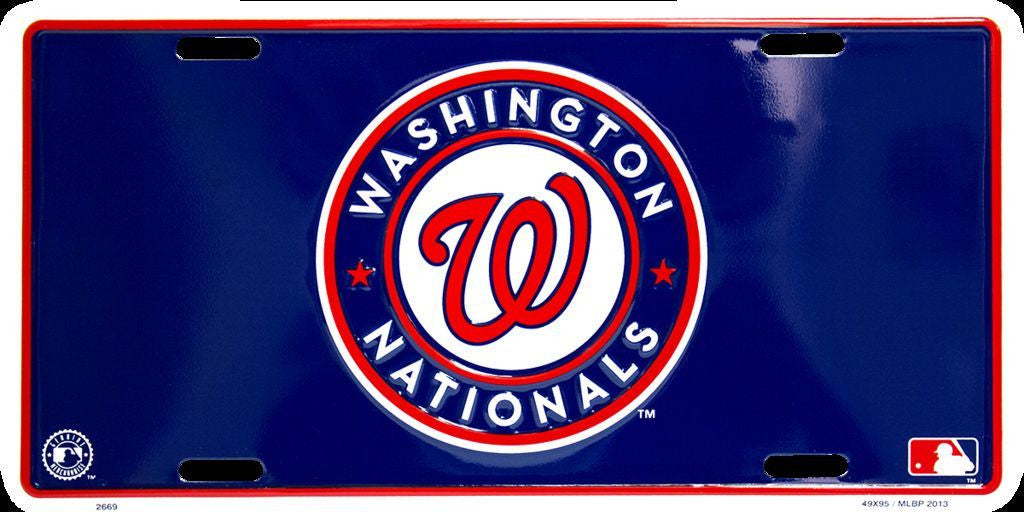 WASHINGTON NATIONALS LICENSE PLATE