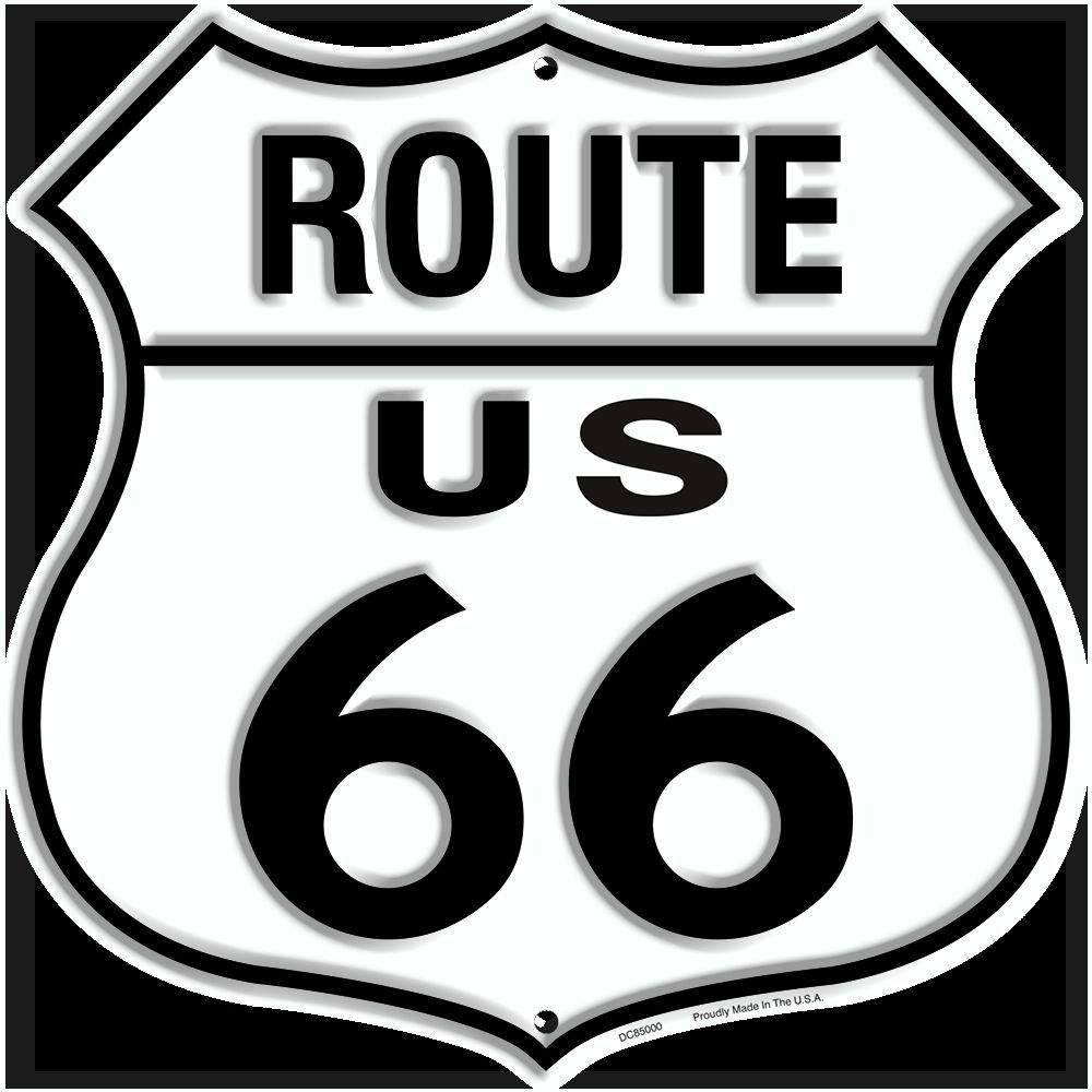 US ROUTE 66 EMBOSSED METAL SHIELD