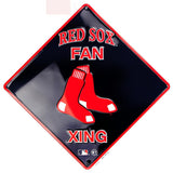 BOSTON RED SOX RED SOX FAN XING EMBOSSED METAL